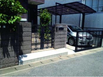 エクステリアブロック工事(リフォーム施工事例:松戸市)