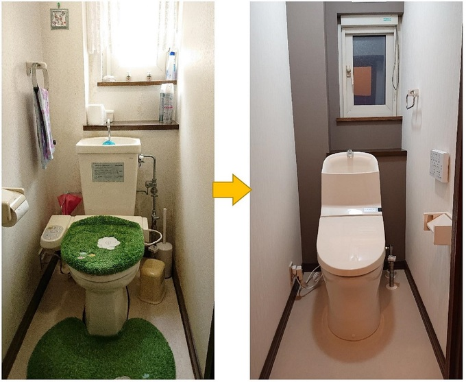 札幌市O様邸 トイレ入替工事