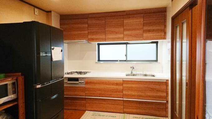 部屋の雰囲気に合うキッチンになりました