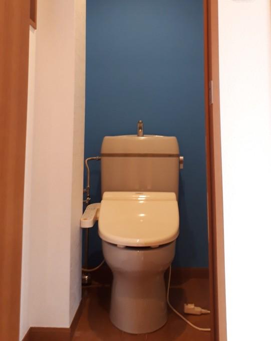 アクセントクロスでトイレ室の雰囲気が変わりました