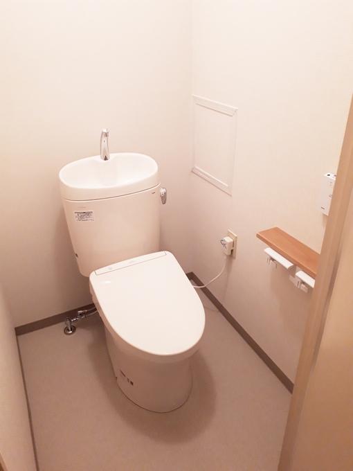 凹凸を減らしたトイレでお掃除もラクになりました。