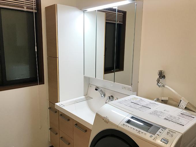収納のたくさんある洗面台にしたい