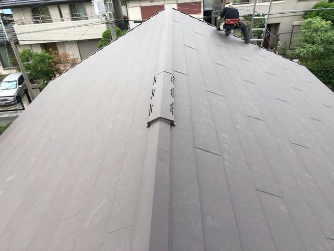 屋根かぶせ葺き