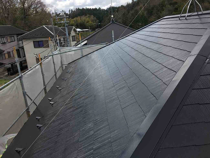 屋根もしっかり塗装メンテナンス