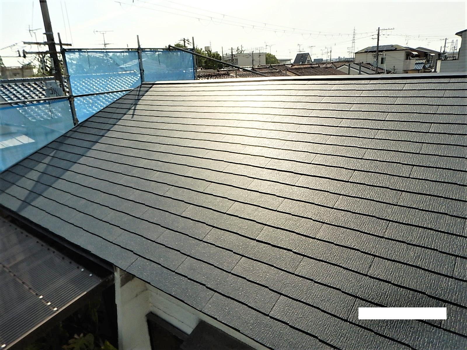 瓦からスレート屋根へ葺き替え工事 他